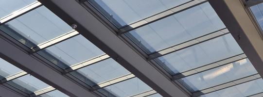 Photovoltaic Modular Skylight installed by Onyx Solar in San Anton Market, Madrid (Spain)