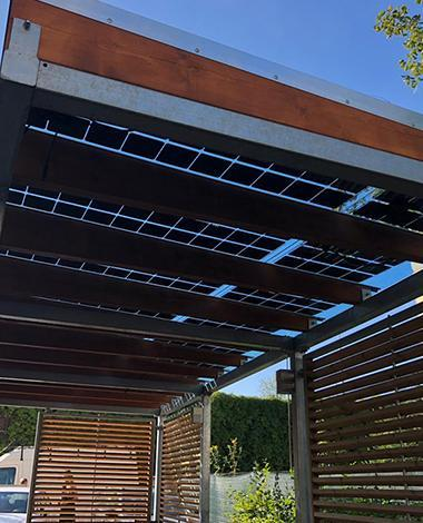 private residence photovoltaic canopy onyx solar